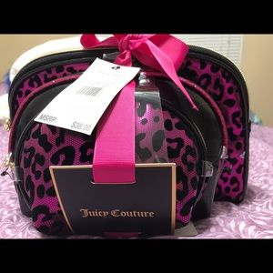 3 piece Juicy Couture cosmetic bag set